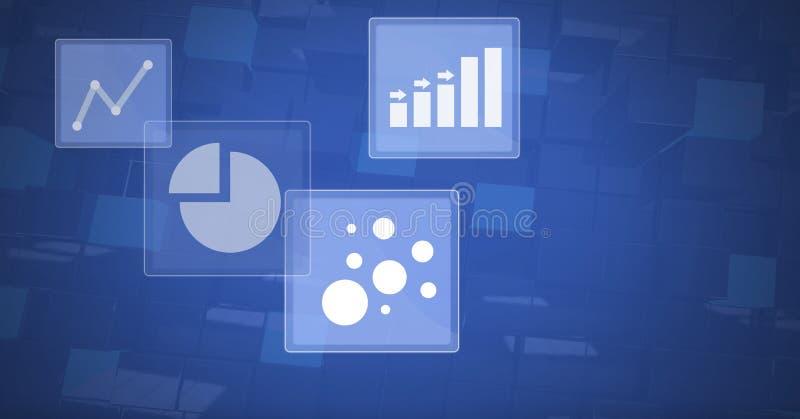De pictogrammen van de bedrijfsgrafiekstatistiek vector illustratie