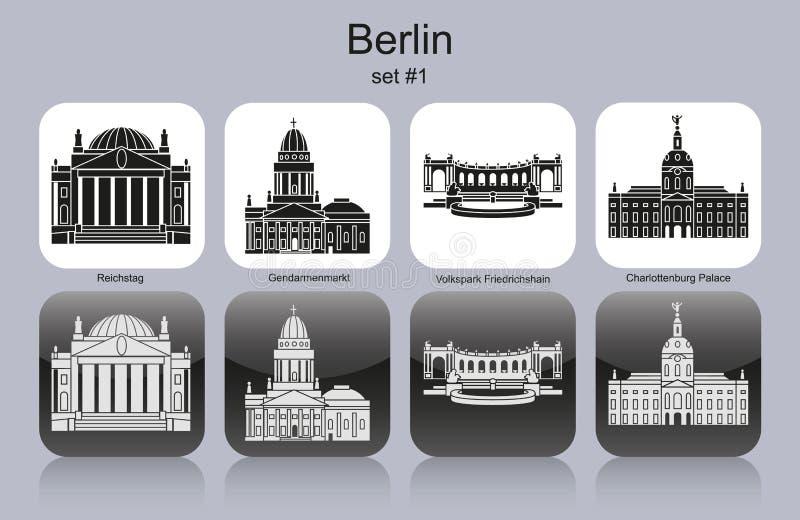 De pictogrammen van Berlijn stock illustratie
