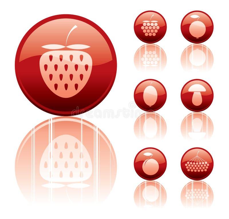 De pictogrammen van bessen vector illustratie