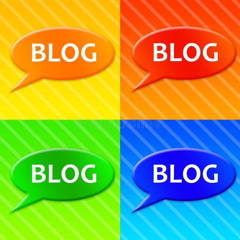 De pictogrammen van Blog stock illustratie