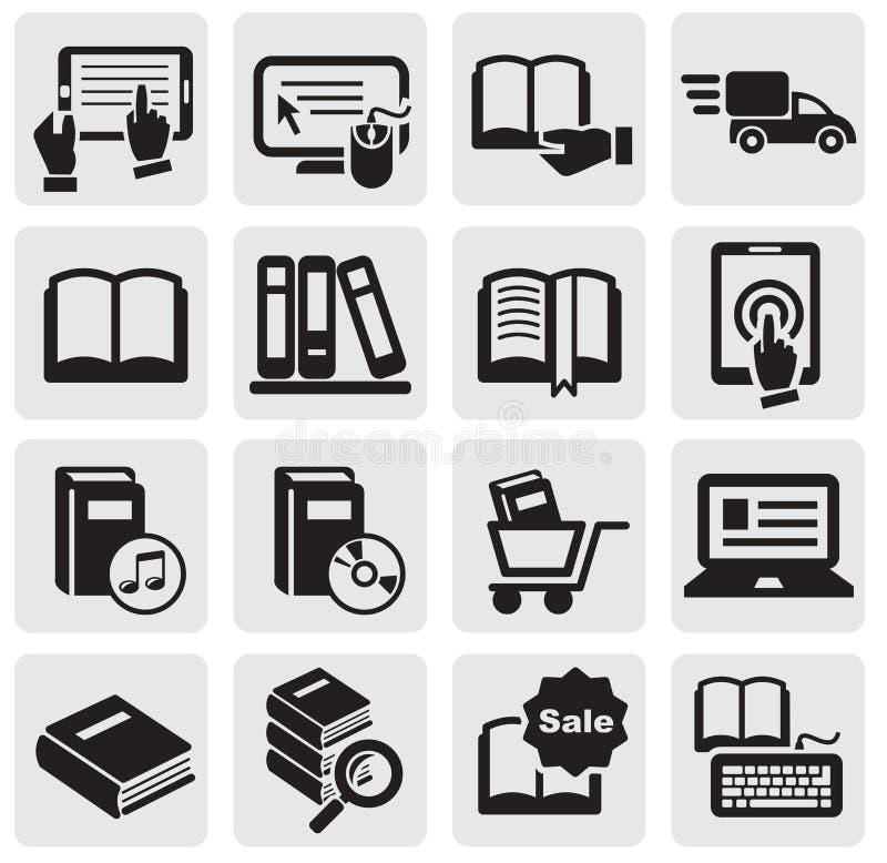 De pictogrammen van boeken stock illustratie