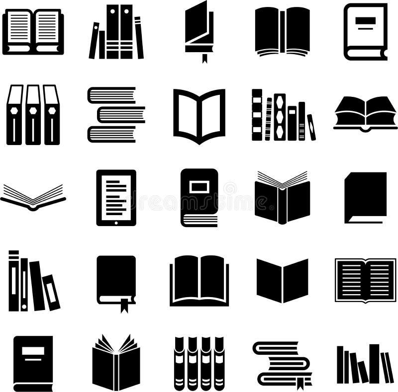 De pictogrammen van boeken vector illustratie