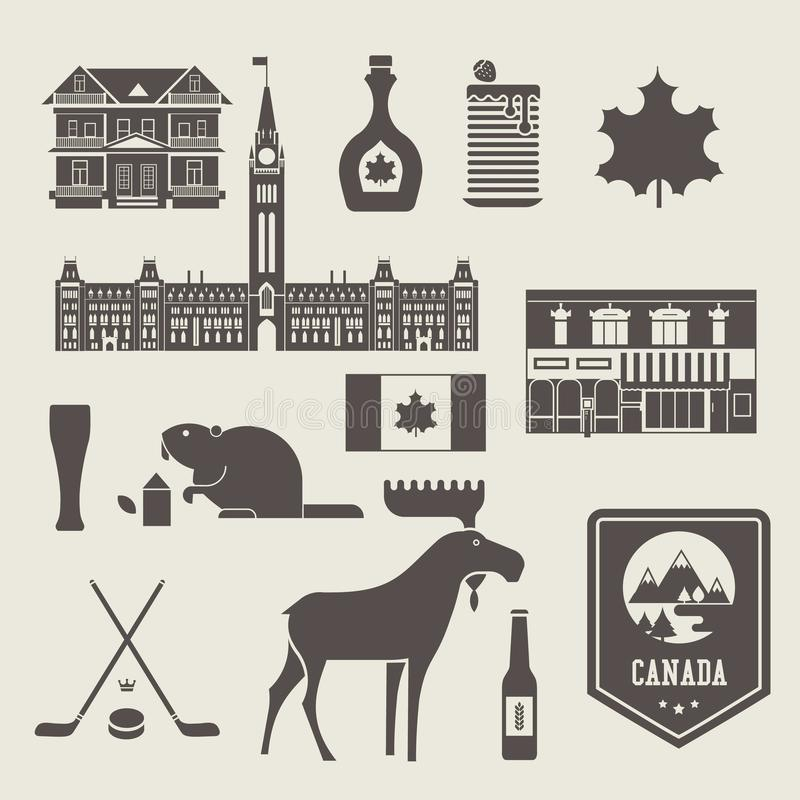 De pictogrammen van Canada stock illustratie