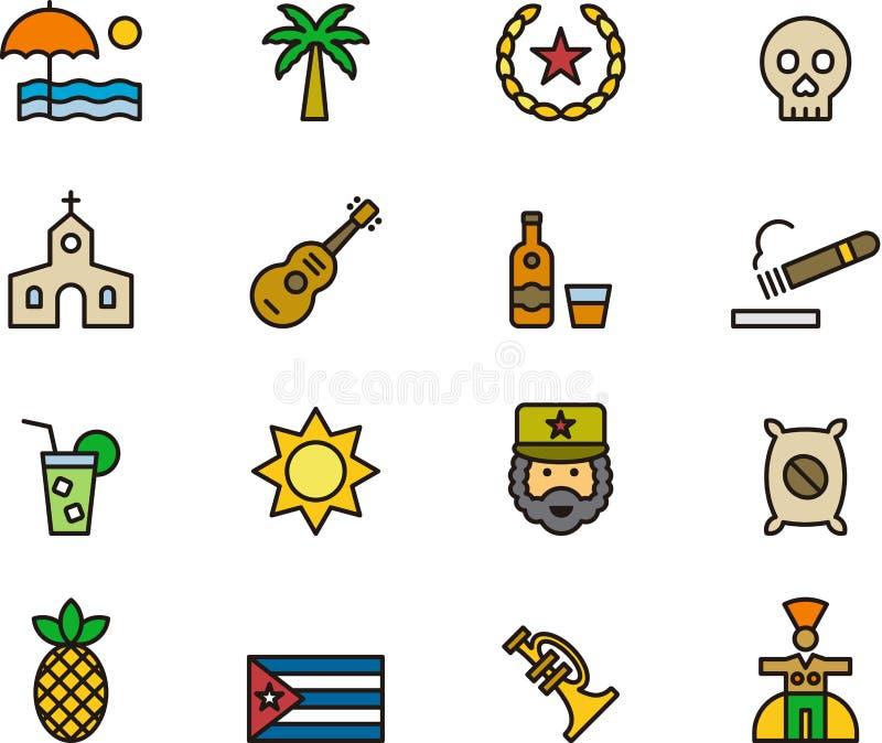 De pictogrammen van Cuba royalty-vrije stock afbeelding