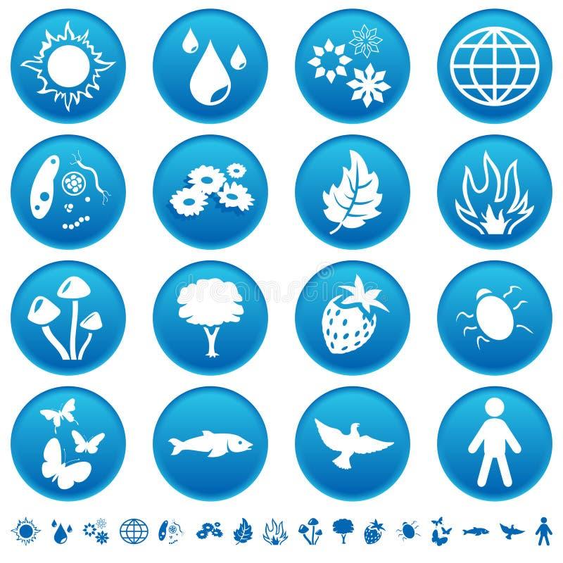 De pictogrammen van de aard royalty-vrije illustratie