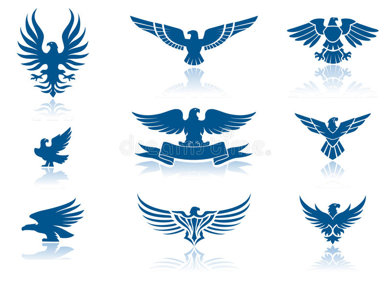 De pictogrammen van de adelaar stock illustratie