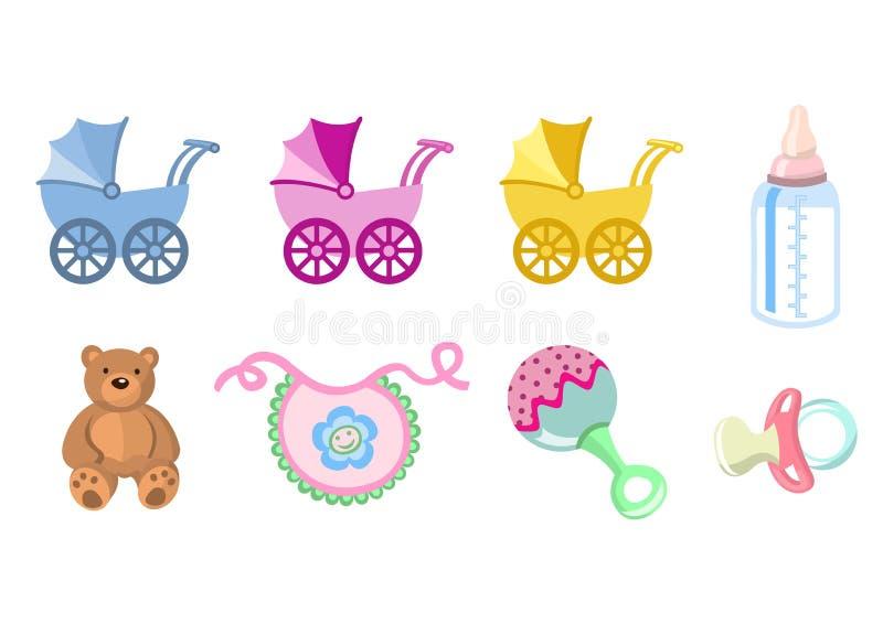 De pictogrammen van de baby royalty-vrije illustratie