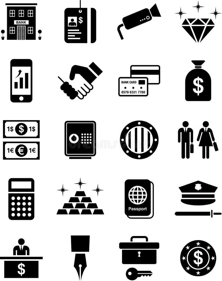 De pictogrammen van de bank stock illustratie