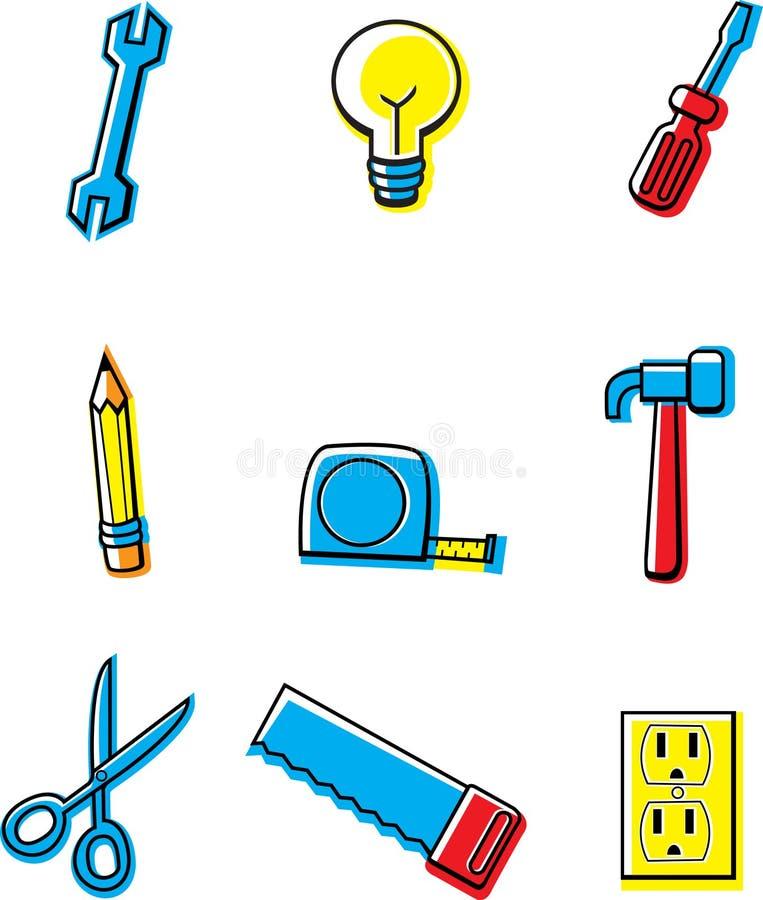 De Pictogrammen van de bouw stock illustratie