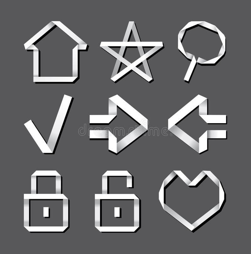 De pictogrammen van de computer royalty-vrije illustratie
