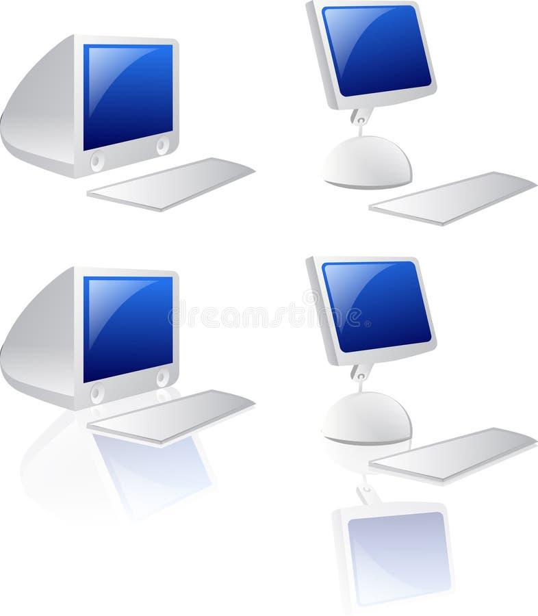 De Pictogrammen van de computer stock illustratie
