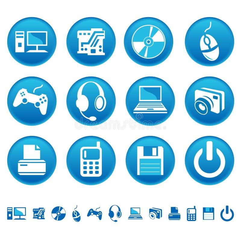 De pictogrammen van de computer vector illustratie