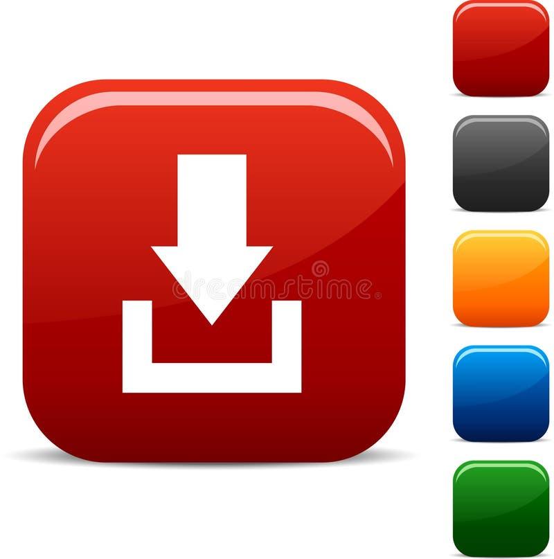 De pictogrammen van de download. stock illustratie