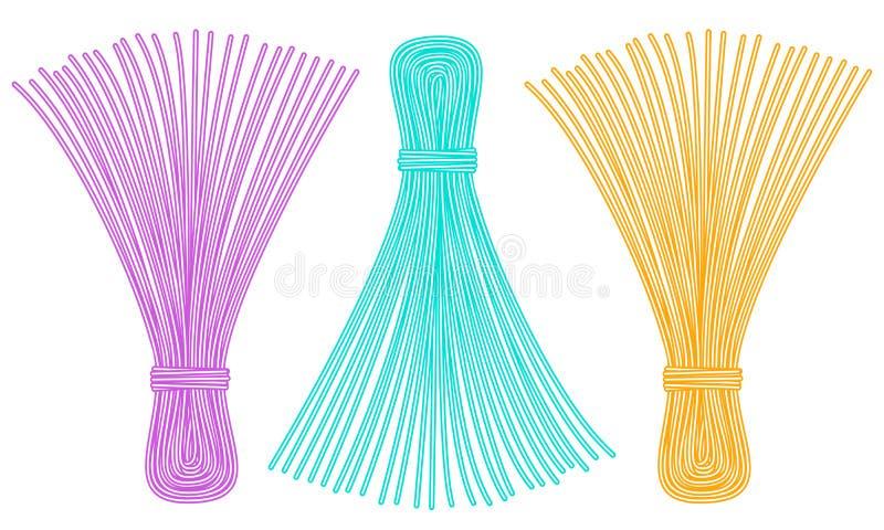 De pictogrammen van de draadleeswijzer vector illustratie