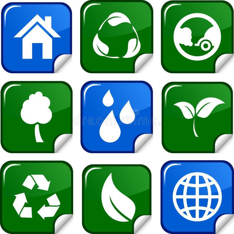 De pictogrammen van de ecologie. vector illustratie