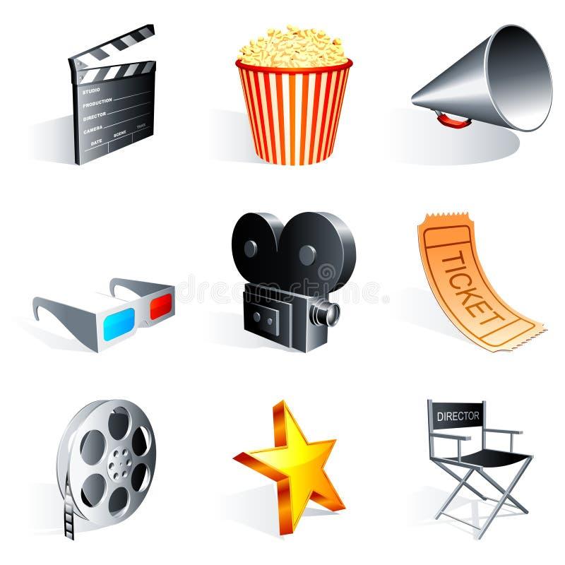 De pictogrammen van de film. royalty-vrije illustratie