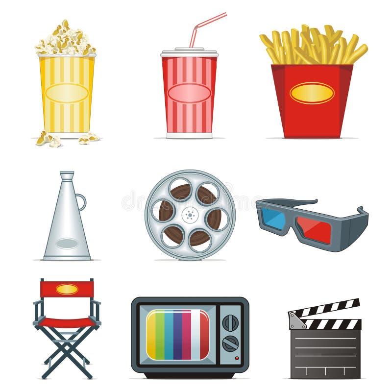 De pictogrammen van de film stock illustratie