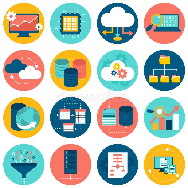 De pictogrammen van de gegevensanalyse