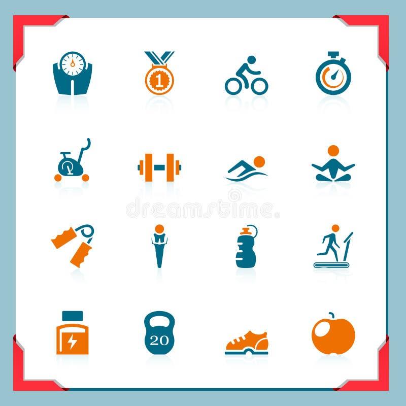 De pictogrammen van de geschiktheid | In een frame reeks stock illustratie