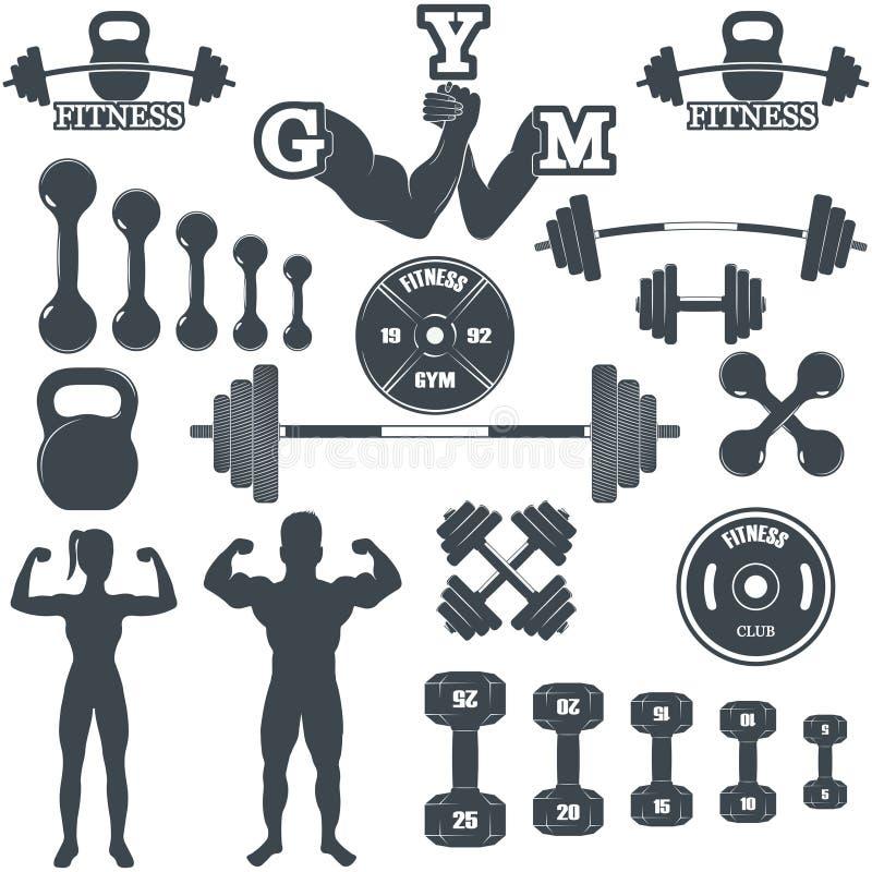 De pictogrammen van de geschiktheidsgymnastiek royalty-vrije illustratie