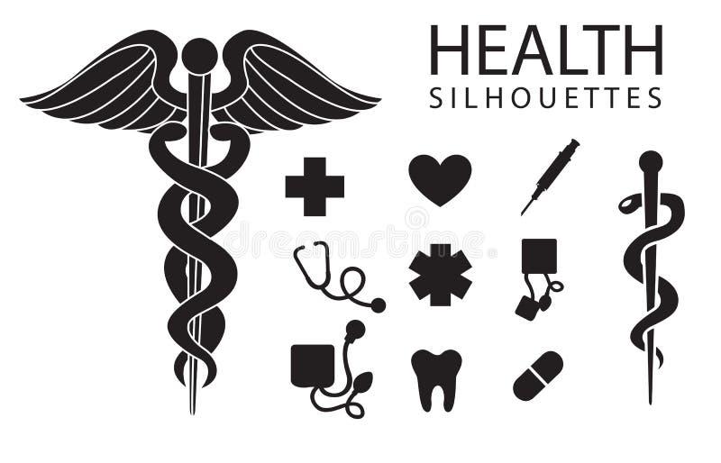 De Pictogrammen Van De Gezondheid Stock Fotografie