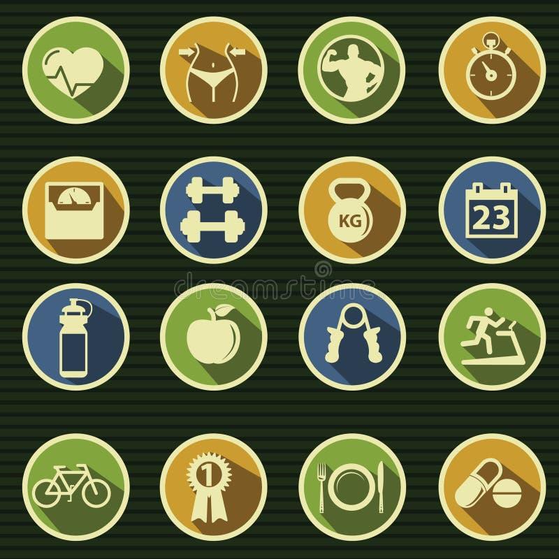 De Pictogrammen van de gezondheid en van de Geschiktheid royalty-vrije illustratie