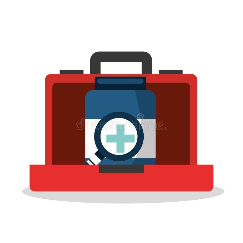 De pictogrammen van de gezondheidszorgmedische apparatuur stock illustratie