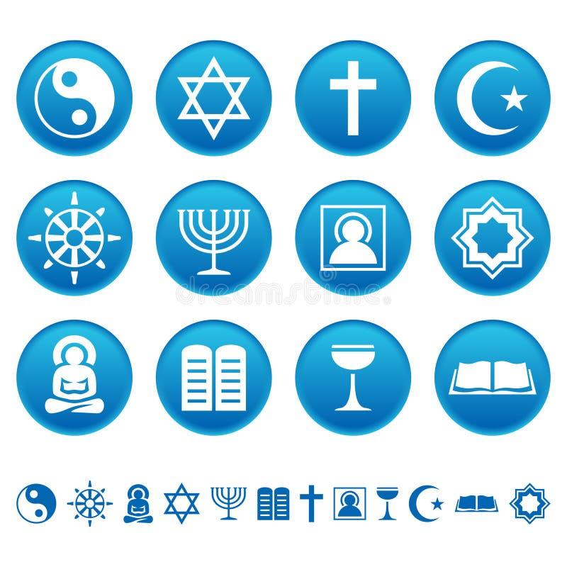 De pictogrammen van de godsdienst stock illustratie