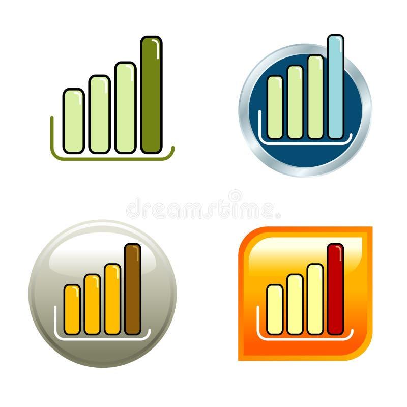 De Pictogrammen van de grafiek stock afbeeldingen
