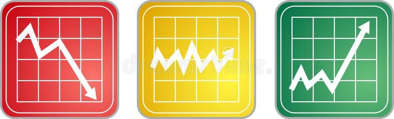 De Pictogrammen van de grafiek vector illustratie
