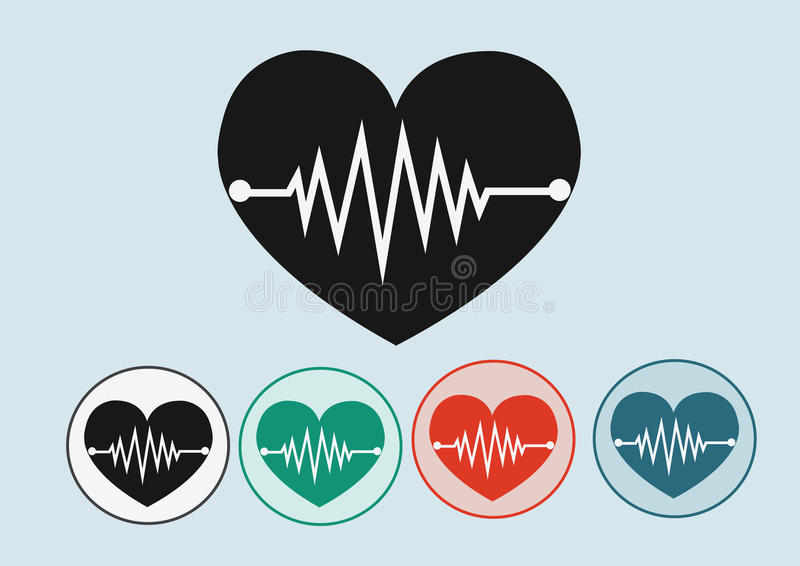De pictogrammen van de hartgolf royalty-vrije illustratie