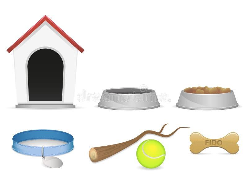 De Pictogrammen van de hond vector illustratie