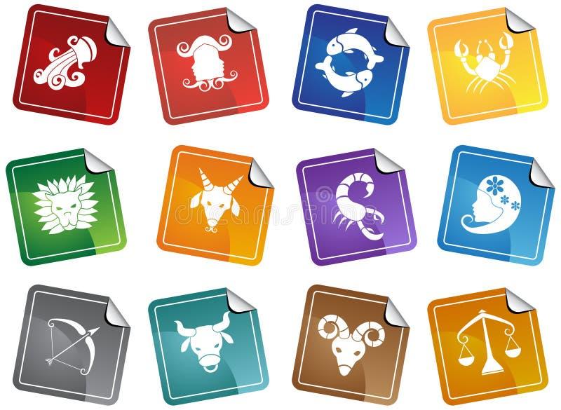 De Pictogrammen van de Horoscoop van de dierenriem vector illustratie