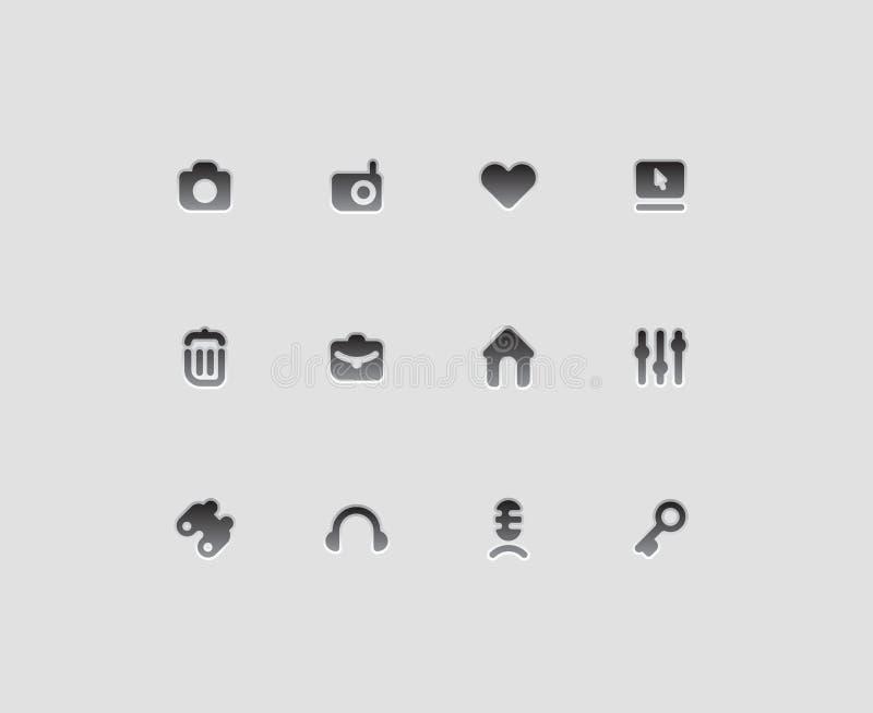 De pictogrammen van de interface royalty-vrije illustratie