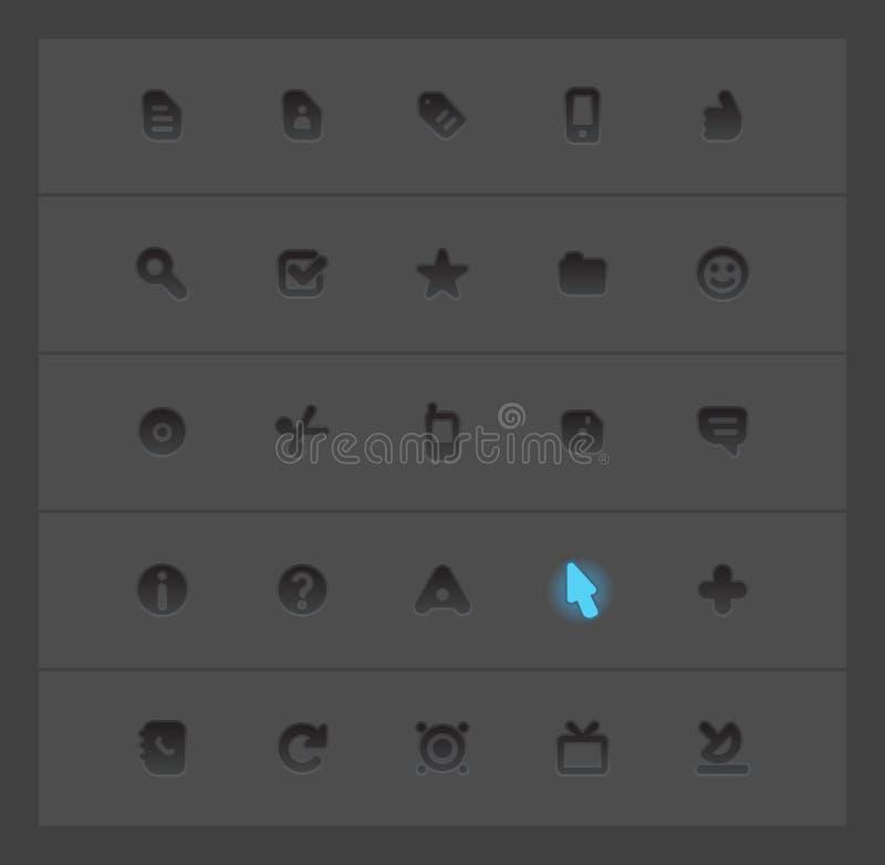 De pictogrammen van de interface vector illustratie