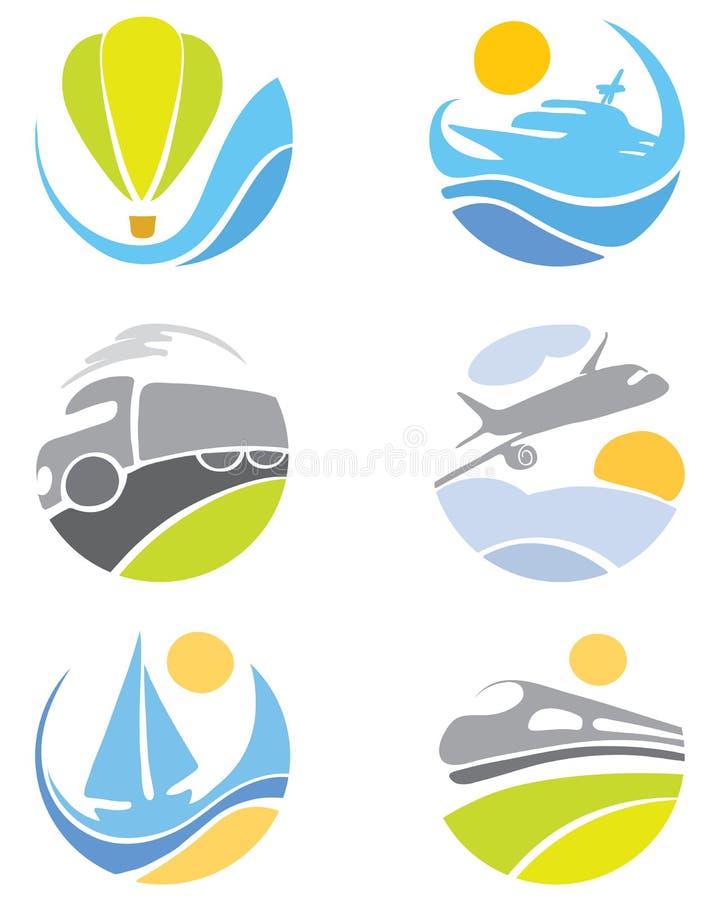 De pictogrammen van de inzameling -- vervoer stock illustratie