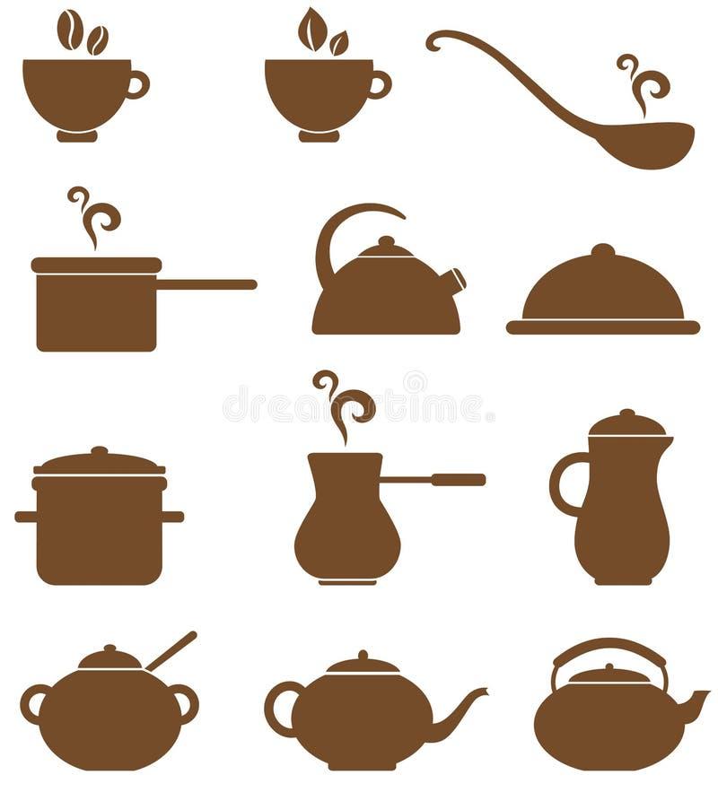 Download De Pictogrammen Van De Keuken Vector Illustratie - Illustratie bestaande uit menu, ontwerp: 29500518