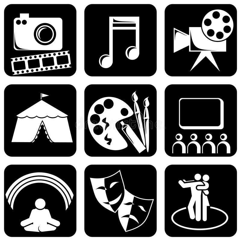 De pictogrammen van de kunst vector illustratie