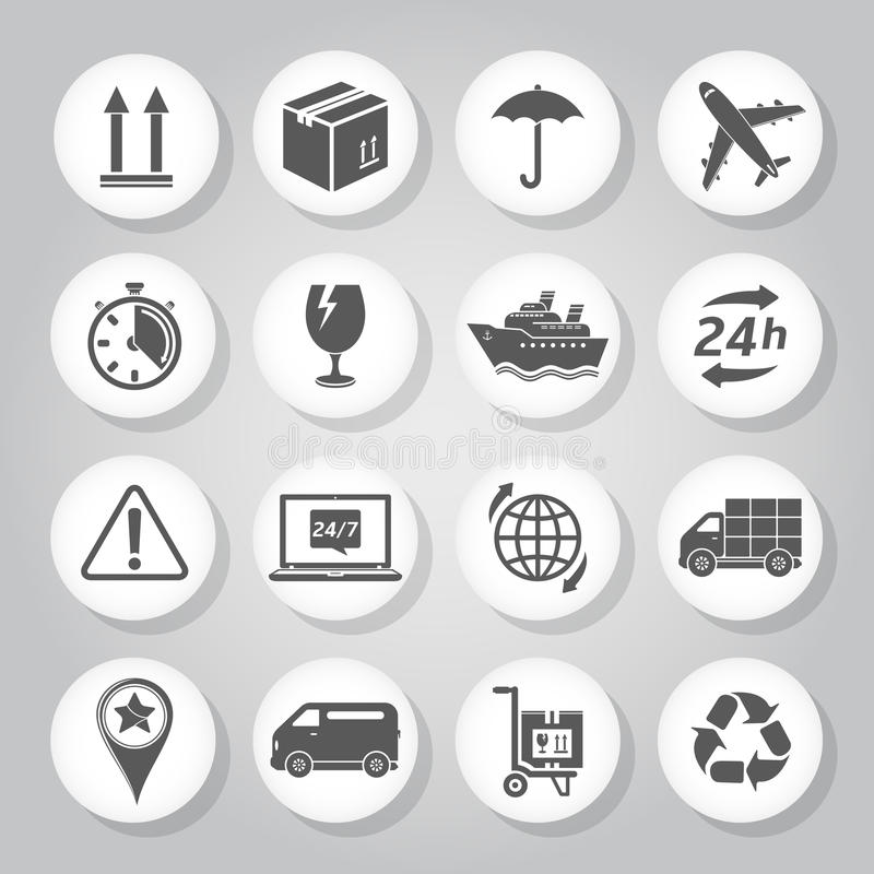 De pictogrammen van de logistiek stock illustratie