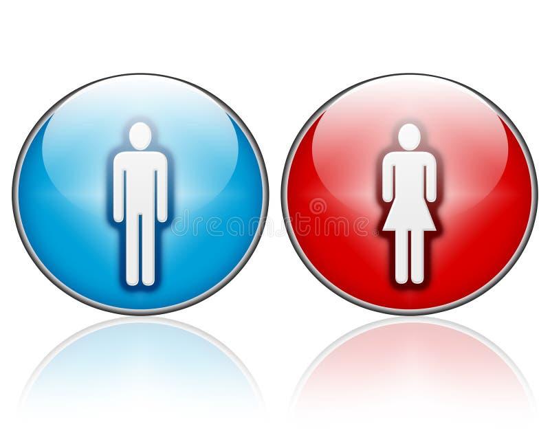 De pictogrammen van de man en van de vrouw royalty-vrije illustratie