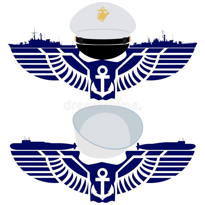 De pictogrammen van de Marine van de V.S. royalty-vrije illustratie