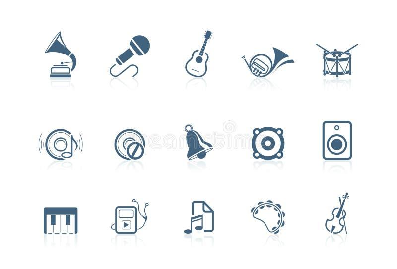 De pictogrammen van de muziek | piccolofluit reeks stock illustratie