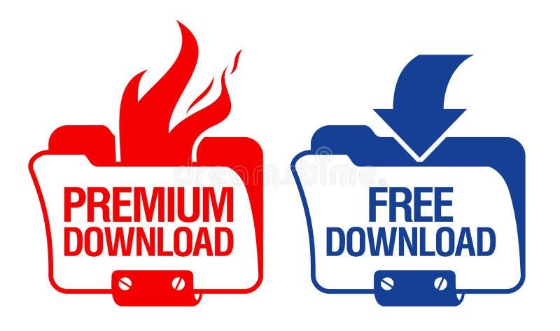 De Pictogrammen van de Omslag van de download. stock illustratie