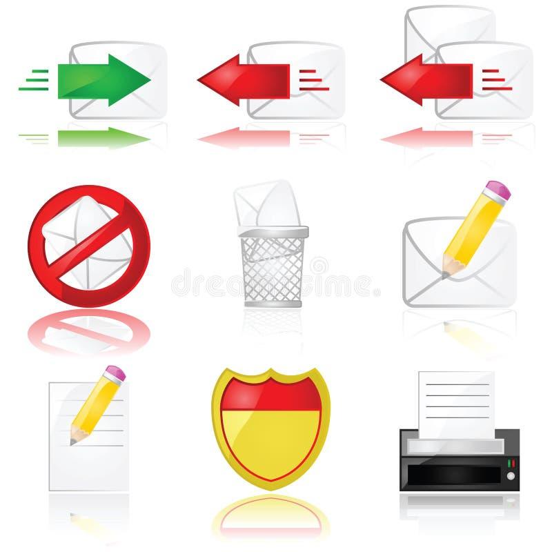 De pictogrammen van de post vector illustratie