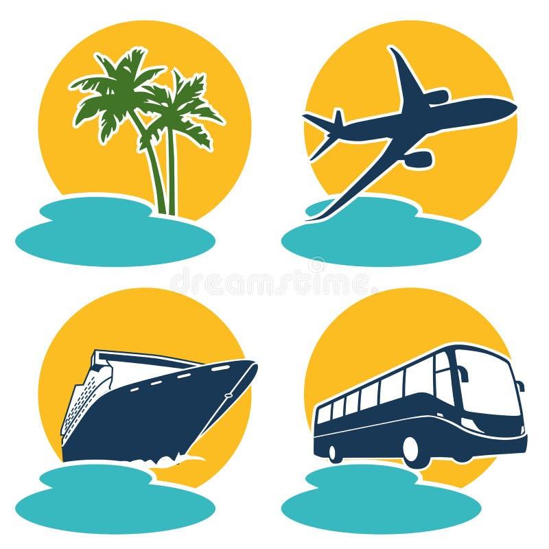 De pictogrammen van de reis en van de Vakantie vector illustratie