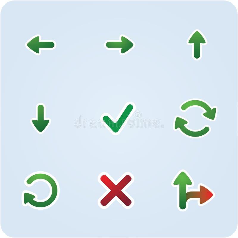 De pictogrammen van de richting royalty-vrije illustratie