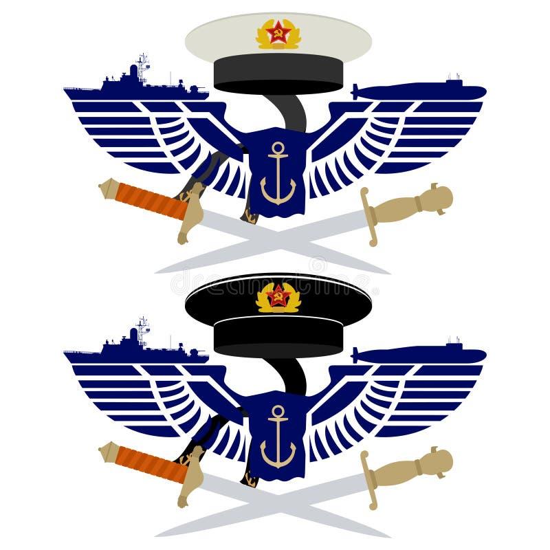 De pictogrammen van de Russische Marine stock illustratie