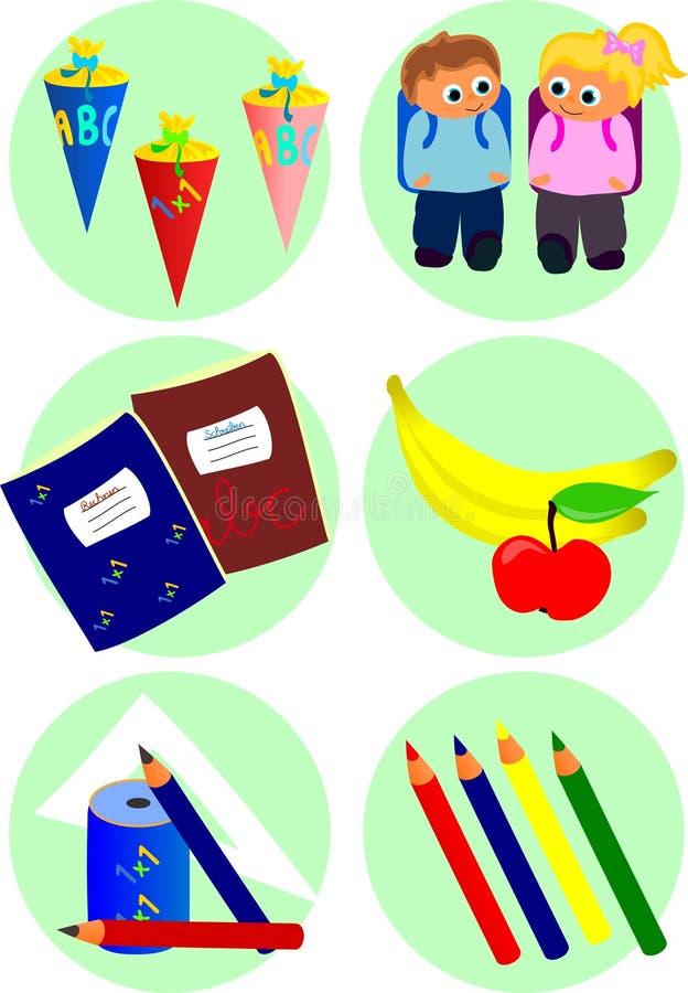 De pictogrammen van de school royalty-vrije illustratie
