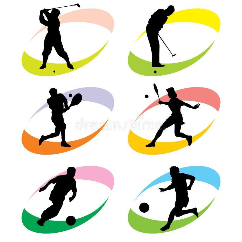 De pictogrammen van de sport stock illustratie