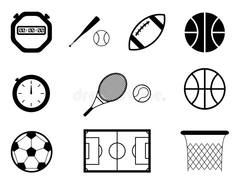 De pictogrammen van de sport stock illustratie